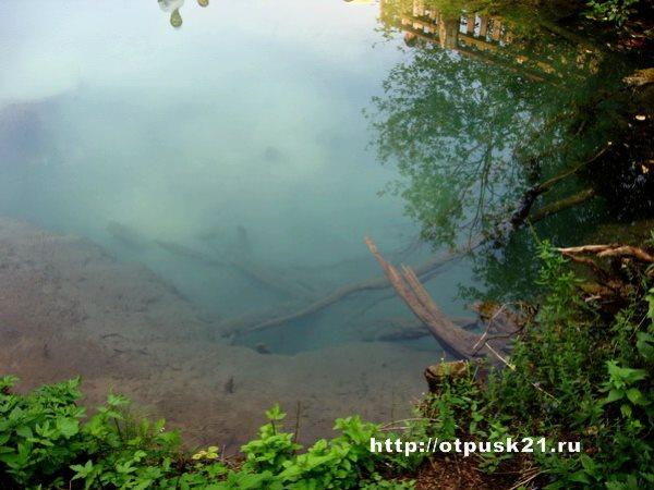 голубой ключ, голубое озеро
