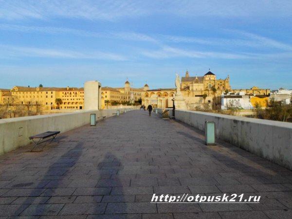 Кордова Испания, арочный римский мост
