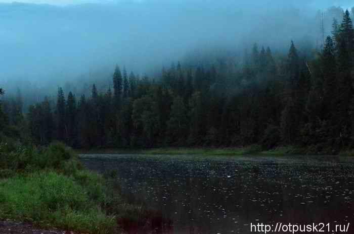 отдых на берегу реки, река Вильва