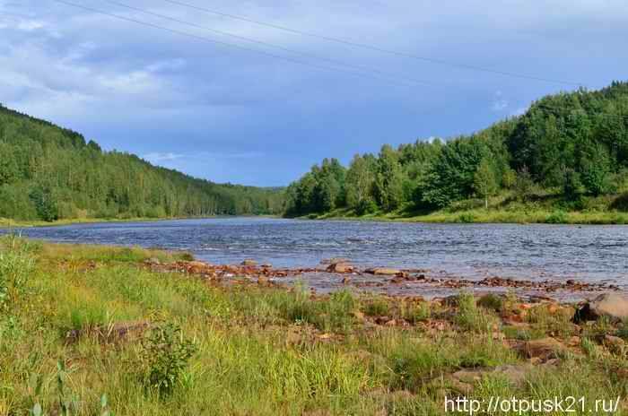 отдых на берегу реки, река Усьва