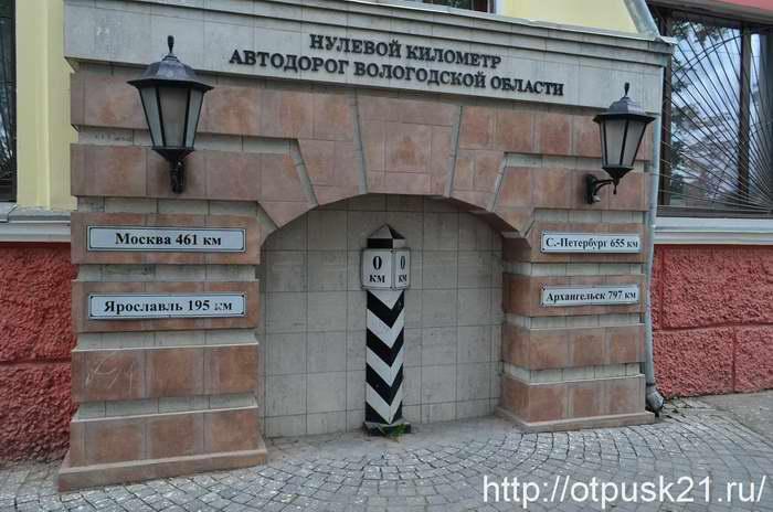 Площадь Революции в Вологде, нулевой километр